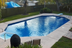 Swimming Pool with Diving Board and Steps