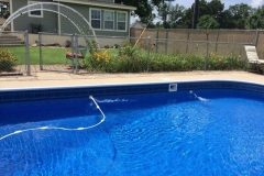 Swimming Pool with a New Liner installed