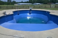 Drained Swimming Pool and New Installed Liner