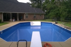 New Installed Liner with Diving Board