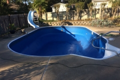 Replacement Liner with Steps and Pool Slide